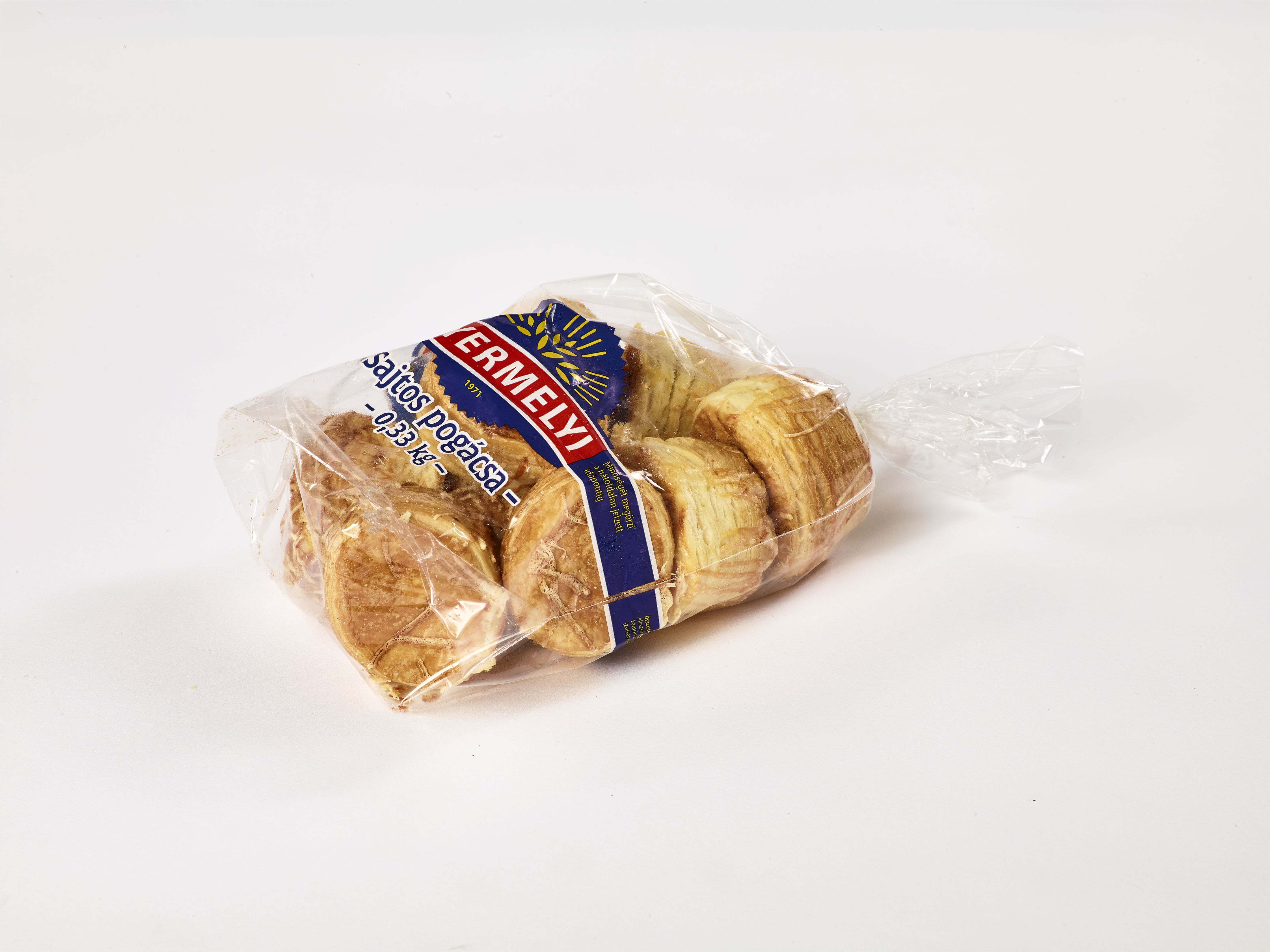 Sajtos pogácsa csomagolt