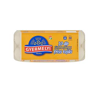 Gyermelyi 10-es dobozos extra sárga tojás